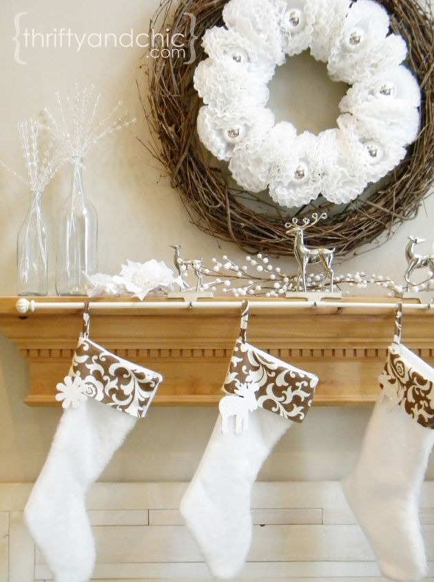 solution for hanging multiple stockings, seasonal holiday d cor, Curtain rod for hanging stockings