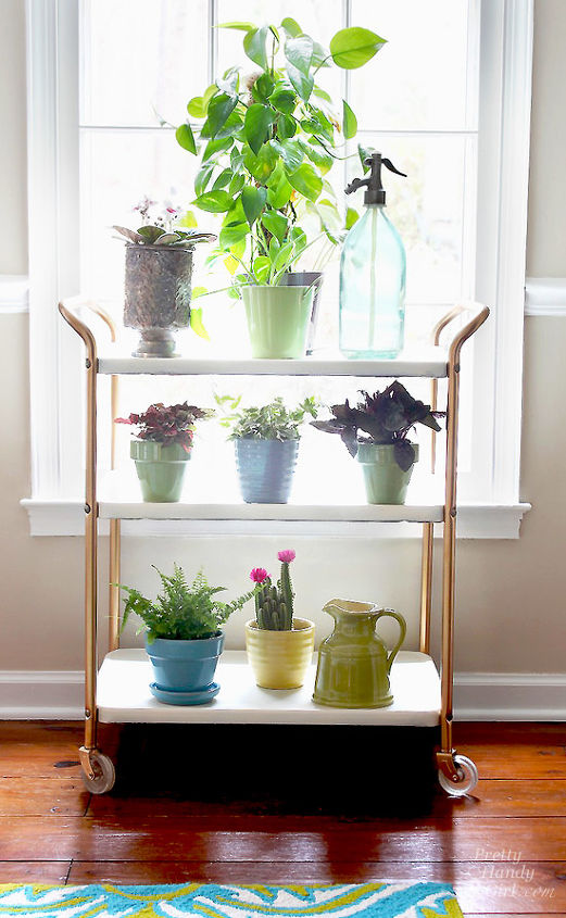 upcycled plant cart saved from above the rim, gardening, painted furniture, repurposing upcycling