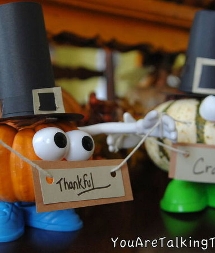Make a Pilgrim Punkin' head! Check out the fun tips and ideas on this post! http://youaretalkingtoomuch.com/?p=2085