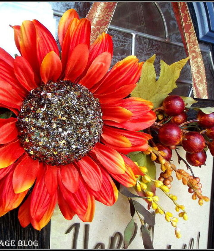 my take on a fall wreath, seasonal holiday d cor, wreaths