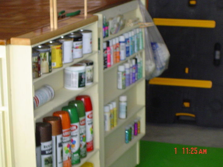 These are the sides. We decided to use these to organize my paints.  They use to be in a box and it was a pain!