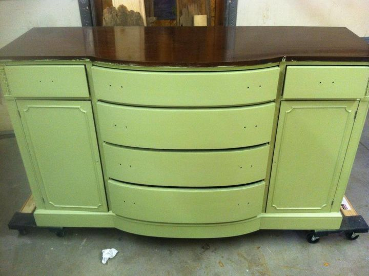 rose stained buffet, painted furniture