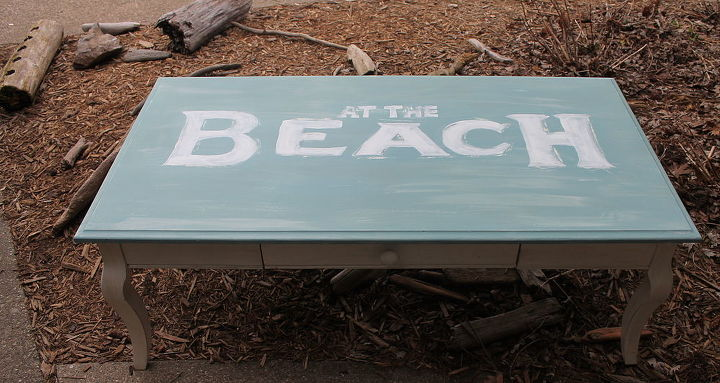 shabby chic at the beach coffee table, home decor, painted furniture, shabby chic