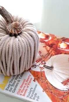 easy diy pumpkin with rope, crafts