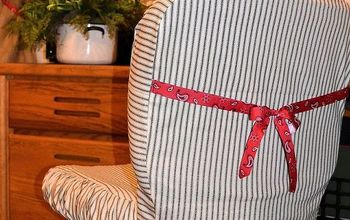 Cute up an Office Chair With a Slipcover!