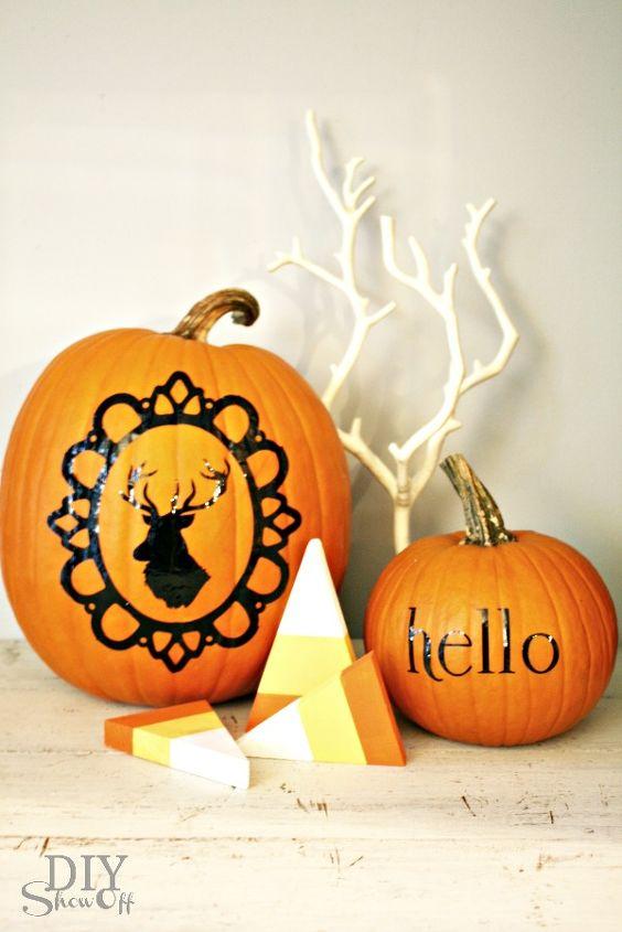 cute no carve no mess pumpkins, crafts, seasonal holiday decor