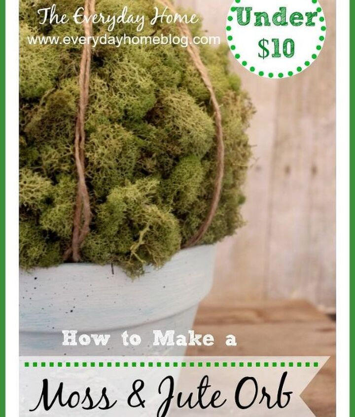 A combination of an embossed pot and moss orb makes me #thinkspring