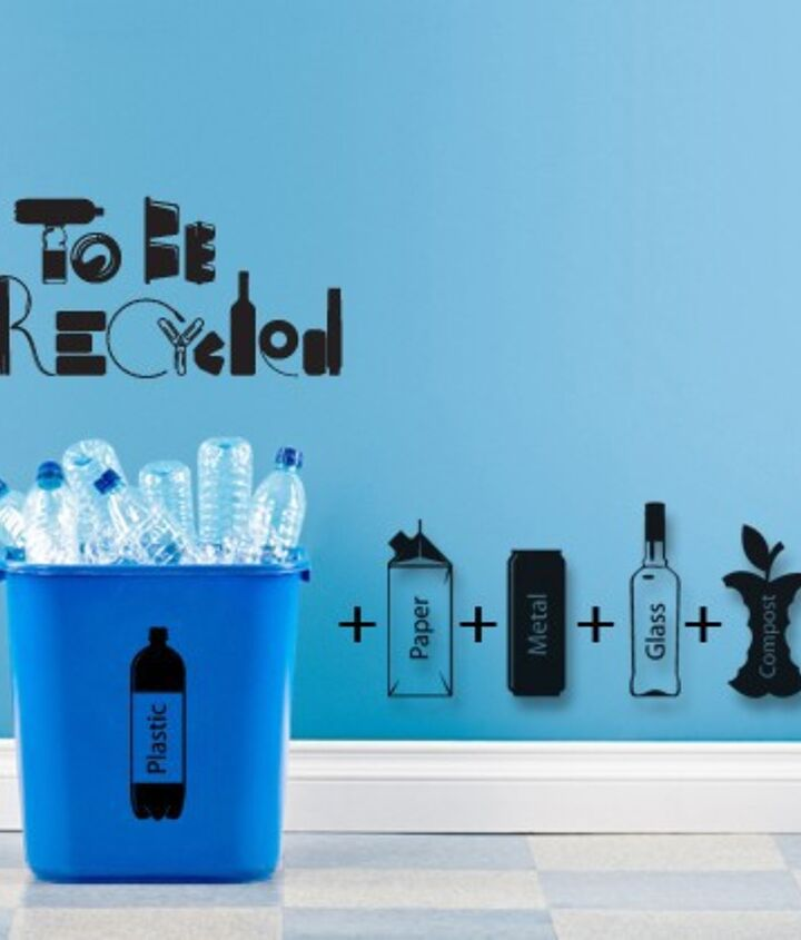 Labels to help segregate recycling and trash.