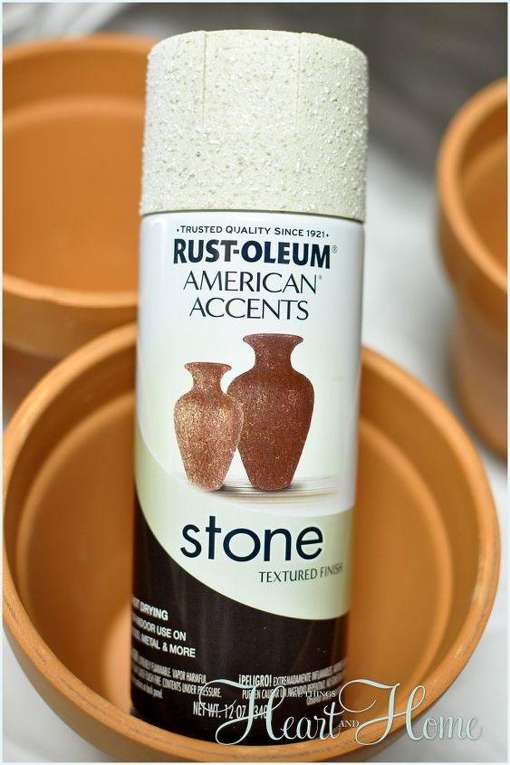 I used a little Rust Oleum Stone Texture Spray...
