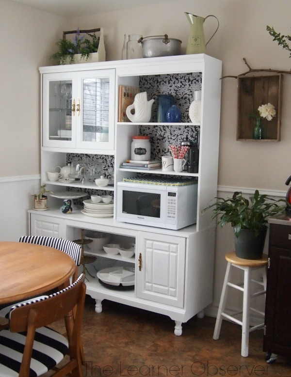 Making Over An 80 S Wall Unit Into A Kitchen Hutch Home Decor