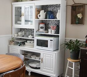 Making Over An 80 S Wall Unit Into A Kitchen Hutch, Home Decor, Kitchen