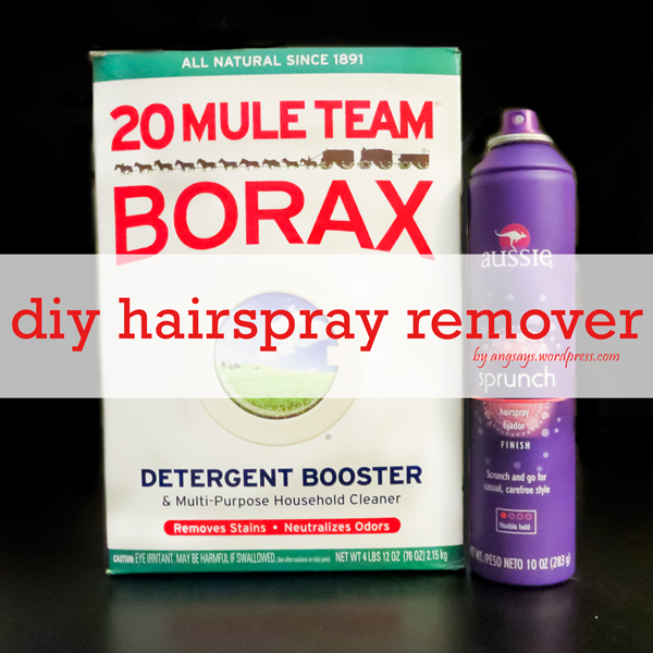 how to remove hairspray residue, cleaning tips