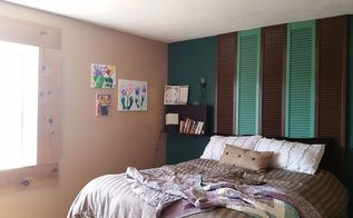 shutter headboard, diy, how to, repurposing upcycling
