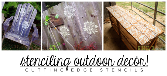 stenciling outdoor decor with cestencils, chalk paint, crafts, home decor, painted furniture, Stenciling Outdoor Decor