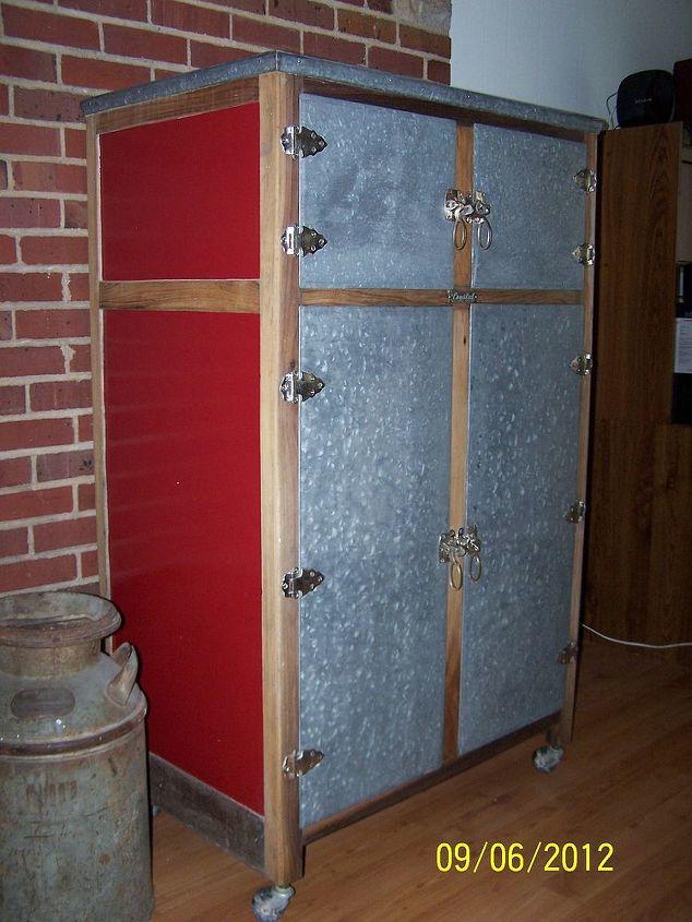 Refinished vintage icebox