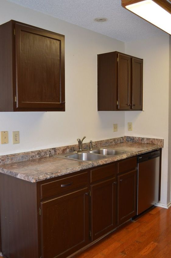 We are thinking about putting some shelves between the upper cabinets. It will depend on what we do for the backsplash.