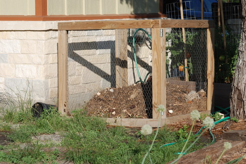 composting in south texas, composting, container gardening, flowers, gardening, go green, landscape, Our Original Bin