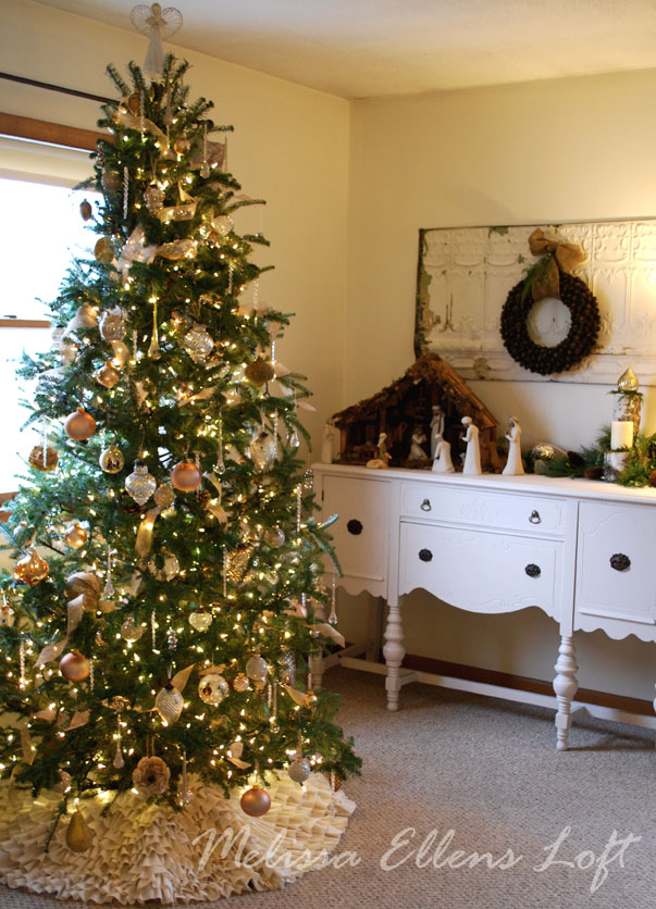 our home at Christmastime