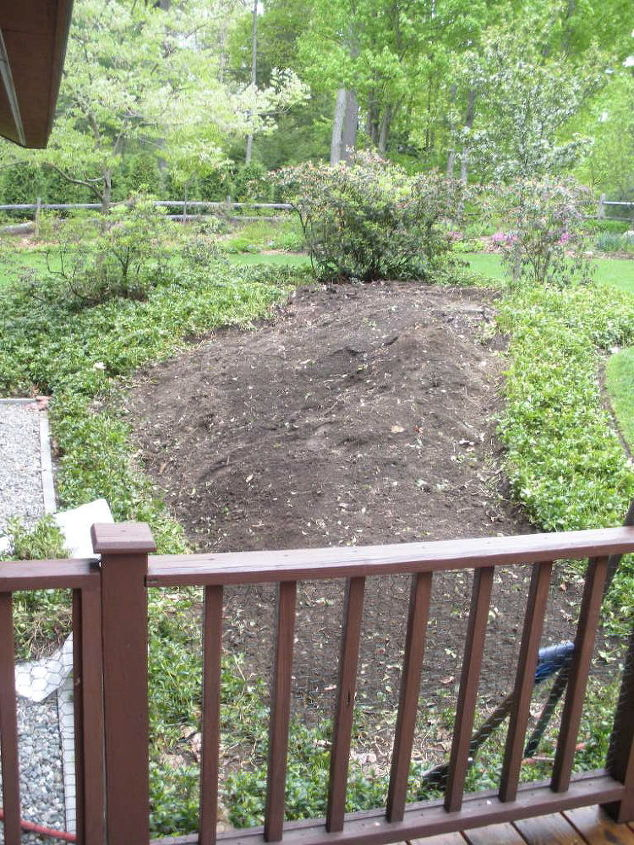Before the Pondless Waterfall-Backyard makeover, NH