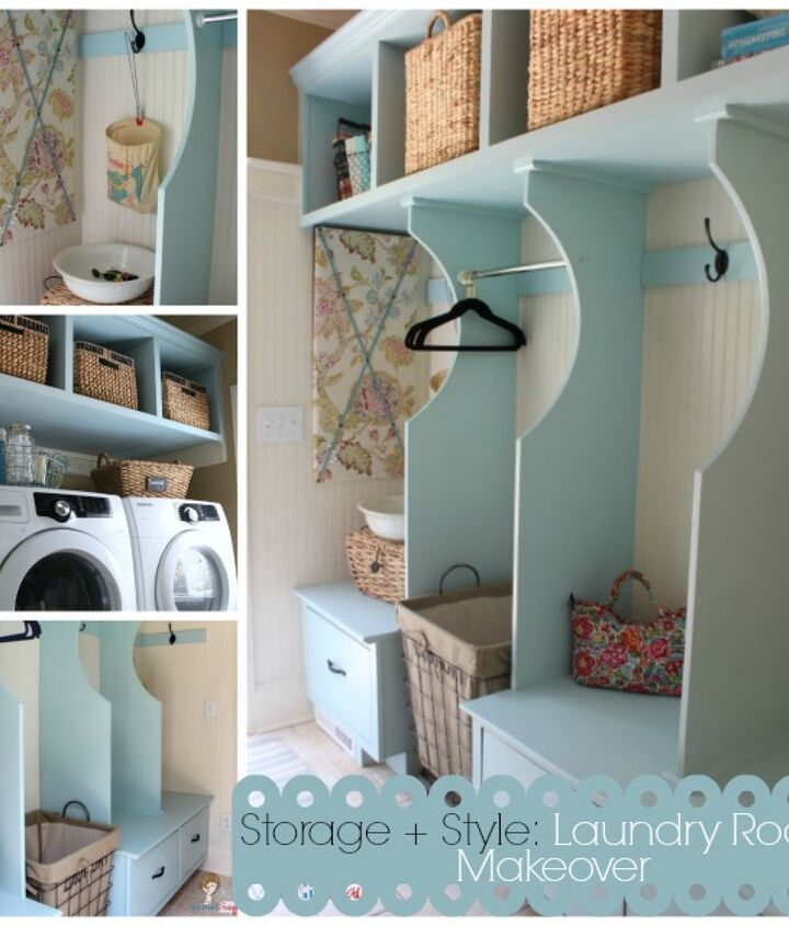 Vintage Cottage Style Laundry Room Makeover