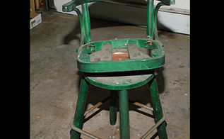 bar stool make over, painted furniture, Believe it or not this bar stool was a gift with purchase SERIOUSLY