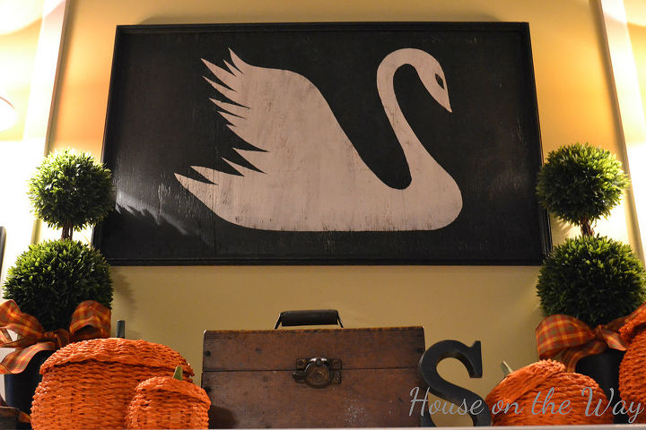 My wooden Swan Sign  is one of my favorite projects ever!