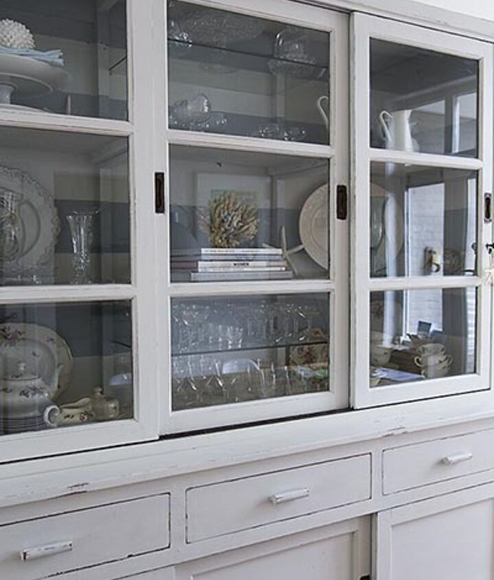The smooth finish on the shelves and doors of the hutch made it necessary to use some bonding agent.