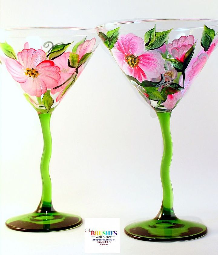 Hibiscus Martini Glassby Brushes with A View