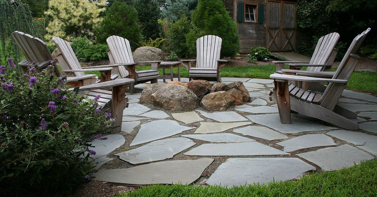 Natural Flagstone Patio Fire Pit Hometalk