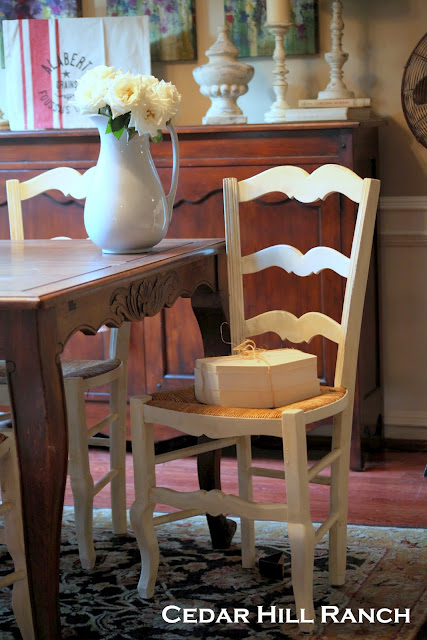 french chairs painted with homemade chalk paint, chalk paint, painted furniture