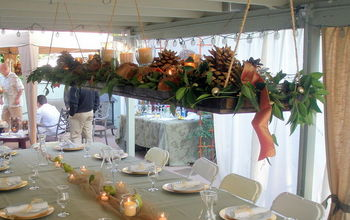 An easy to make hanging centerpiece.
