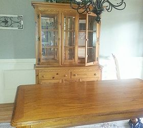 Oak Dining Room Set Makeover