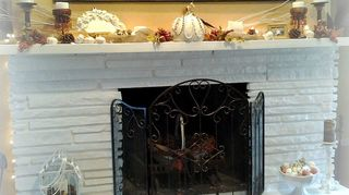 q would it devalue my fireplace to paint it out in white it is currently gray brick, concrete masonry, fireplaces mantels, painting