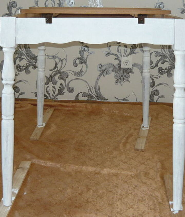 candy table and adding more white to the dinning room, home decor, painted furniture