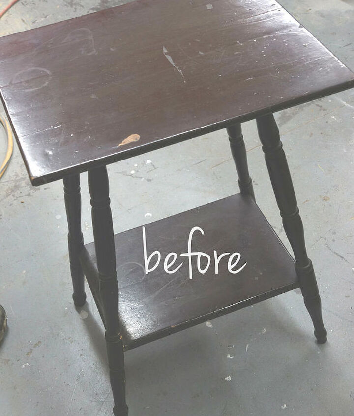 using an orbital sander to create planked effect, painted furniture, rustic furniture