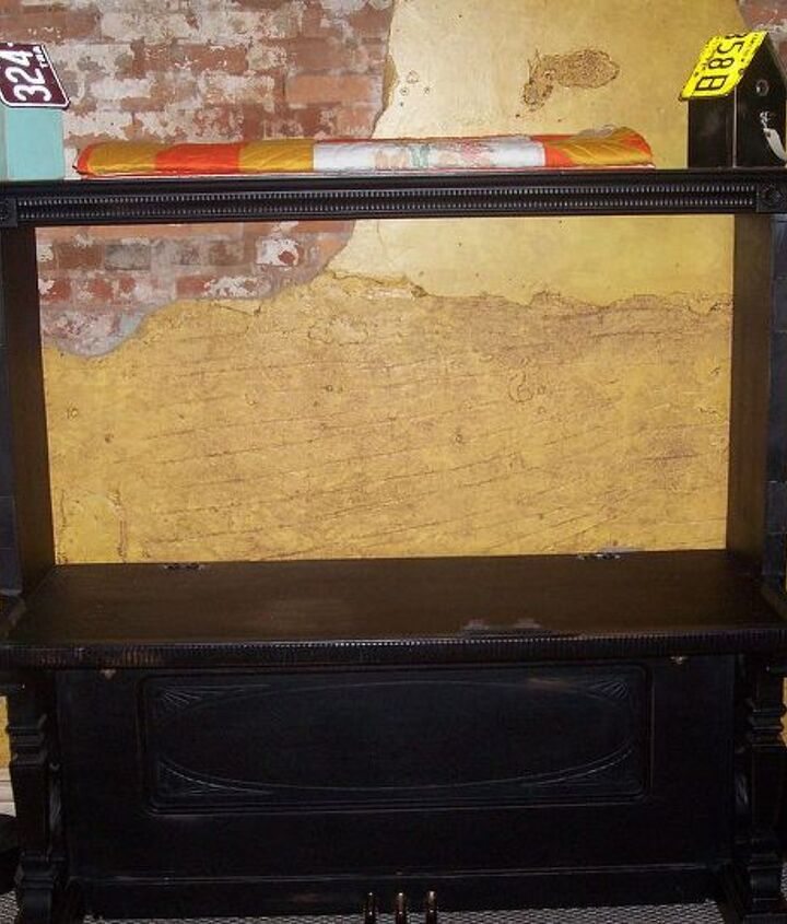 piano entertainment center, painted furniture