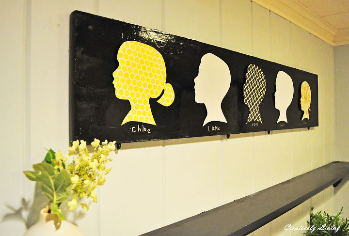 silhouette board under a dollar per silhouette, crafts, Use some fun scrapbooking paper for a fun twist