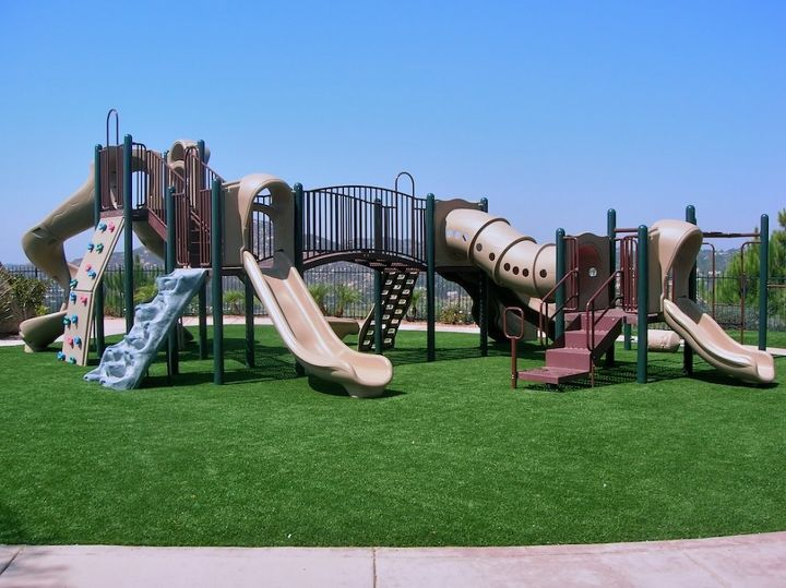 the use of artificial grass for public playgrounds, landscape
