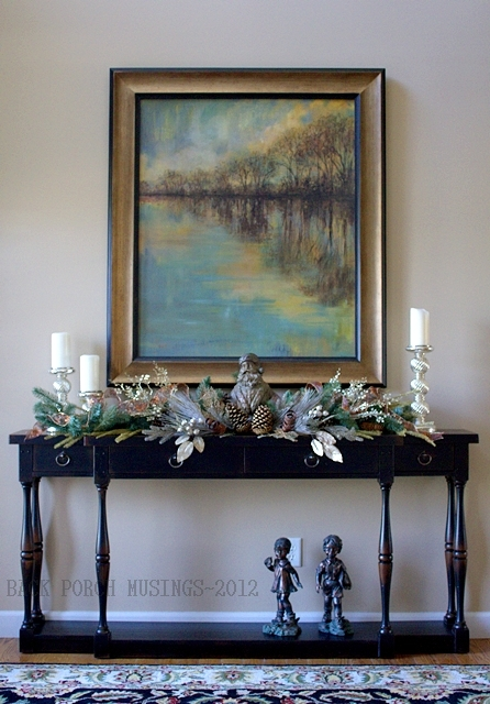 Foyer table vignette