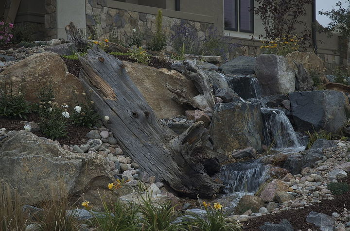 Colorado has lots of wood to make a water feature look natural