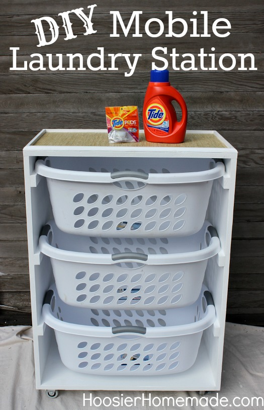 diy mobile laundry station, cleaning tips, closet, diy, how to, laundry rooms, painting, woodworking projects