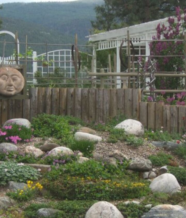 Our rock garden at Sensible Gardening and Living.