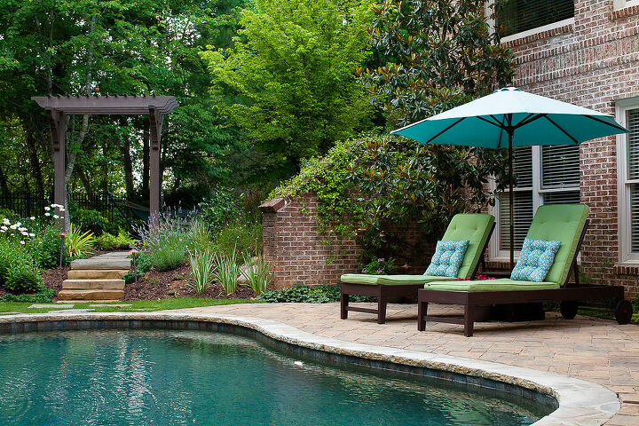 recent outdoor living project, outdoor living, pool designs
