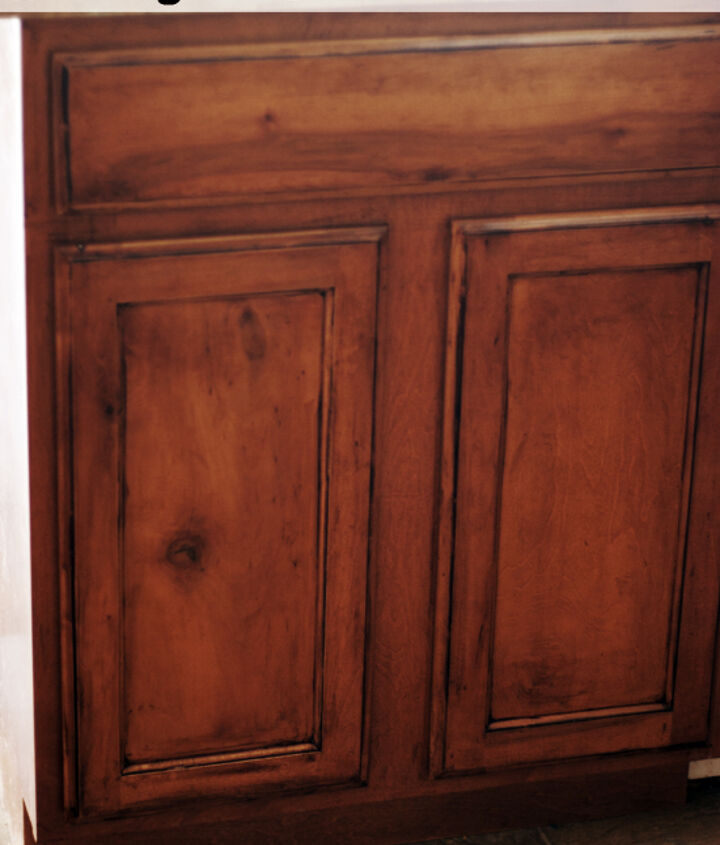 Glazing is a great simple way to update your cabinets