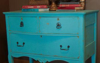 Turquoise Antique Dresser