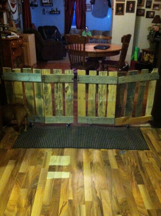 up cycled pallet doggie gate, diy, how to, pallet, repurposing upcycling