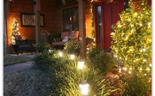tomato cage christmas trees amp our front porch christmas decorations, curb appeal, porches, seasonal holiday decor