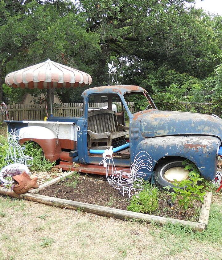 re purposed truck, gardening, outdoor living, repurposing upcycling