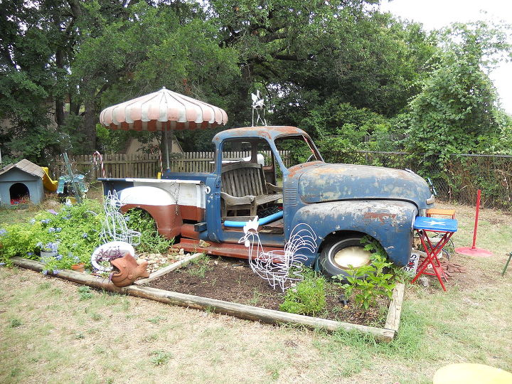 re purposed truck, gardening, outdoor living, repurposing upcycling
