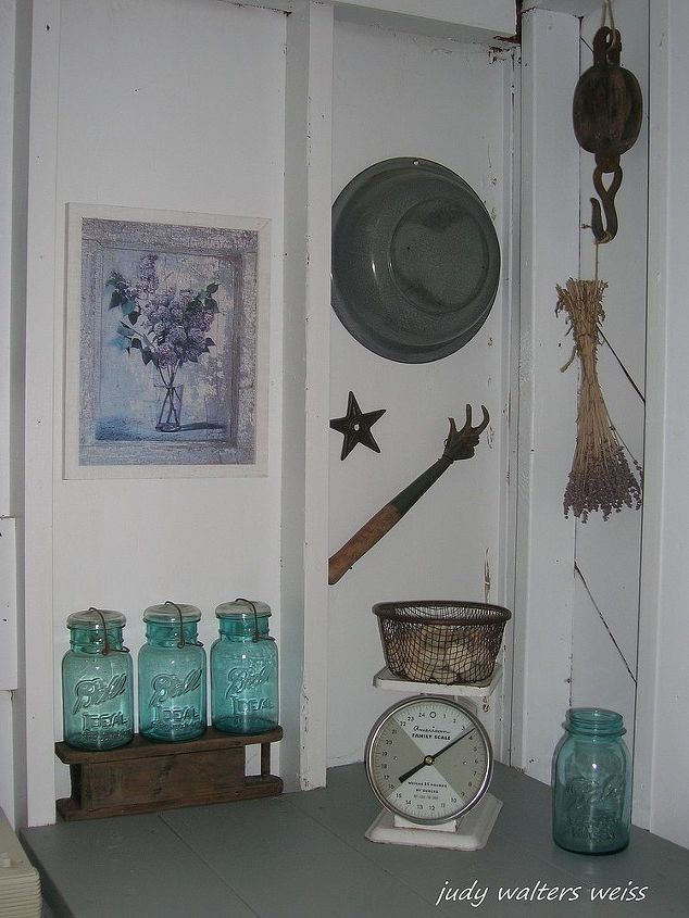 Potting shed wall